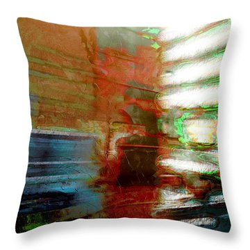Throw Pillow featuring the photograph Seattle By Train by Lori Seaman