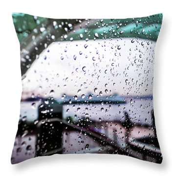 Seattle Drippin Throw Pillow