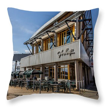 Seattle Fish Bar Throw Pillow