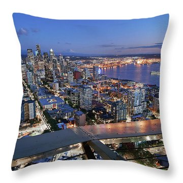 Elliot Bay Throw Pillows
