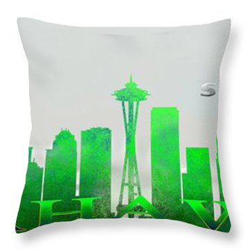 Seattle Greens Throw Pillow