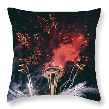 Seattle Throw Pillow by Happy Home Artistry