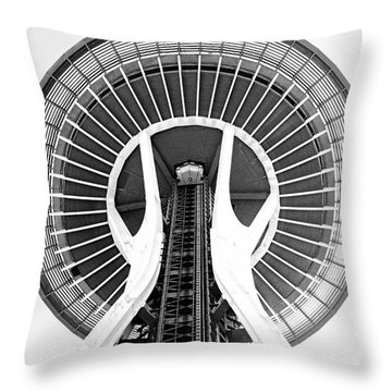 Seattle Needle Throw Pillow