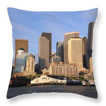 Seattle Pier 54 Throw Pillow