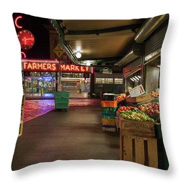 Seattle Public Market 2 Throw Pillow