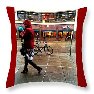Seattle Rain Throw Pillow