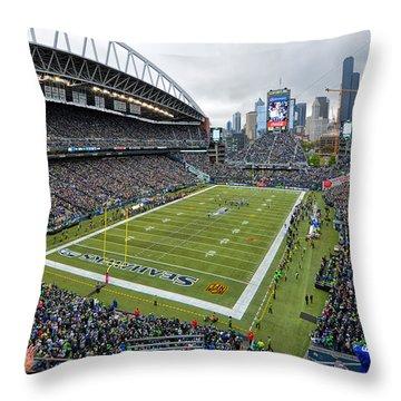 Seattle Seahawks Centurylink Field Throw Pillow