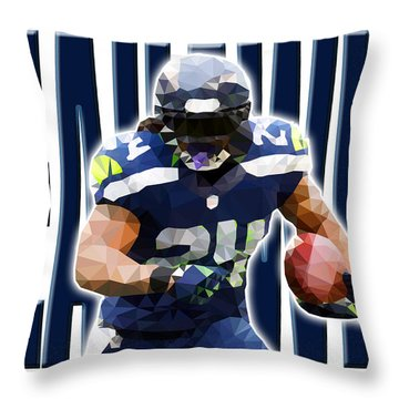 Throw Pillow featuring the digital art Seattle Seahawks by Stephen Younts