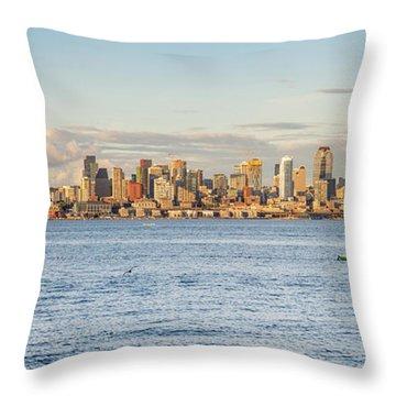 Seattle Skyline 2 Throw Pillow