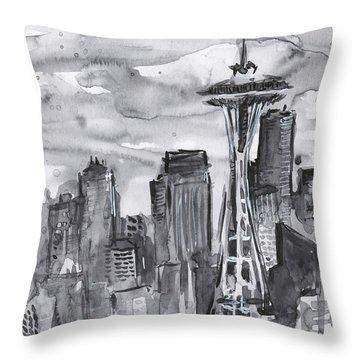 Seattle Skyline Space Needle Throw Pillow