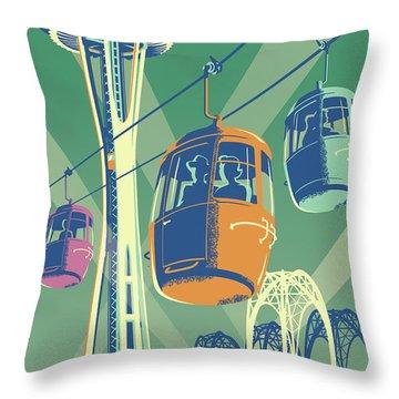 Seattle Space Needle 1962 - Alternate Throw Pillow