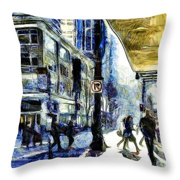 Seattle Streets #2 Throw Pillow by Susan Parish
