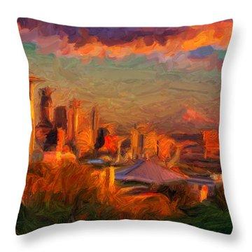 Seattle Sunset 1 Throw Pillow