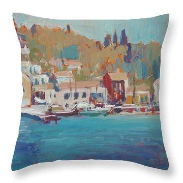 Seaview Lggos Paxos Throw Pillow by Nop Briex