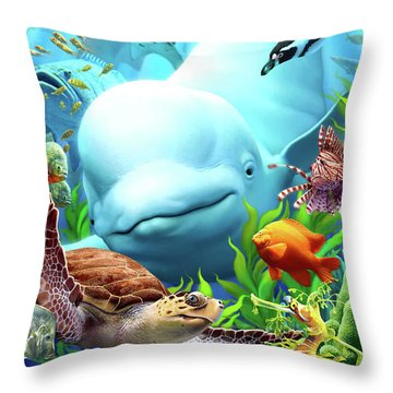 Seavilians 2 Throw Pillow