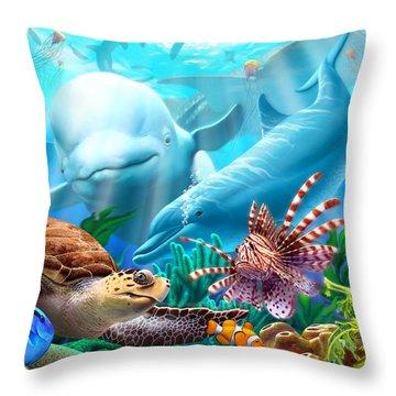 Seavilians 1 Throw Pillow
