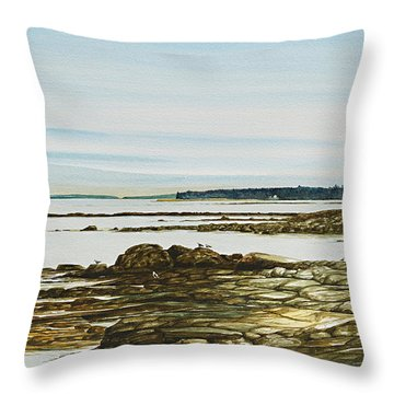 Seawall Mt. Desert Island Throw Pillow