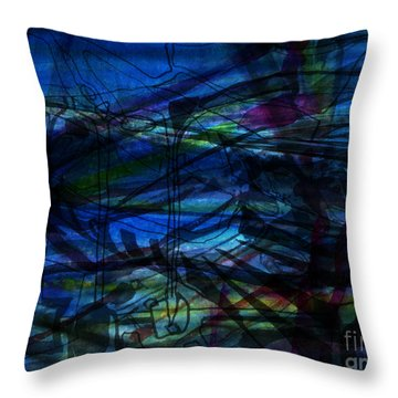 Seaweed And Other Creatures Throw Pillow