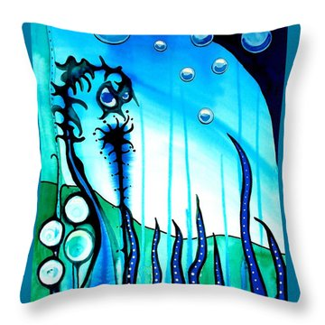Seaweed - Art By Dora Hathazi Mendes Throw Pillow