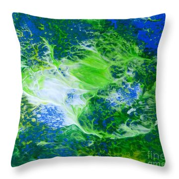 Seaweed Throw Pillow by Fred Wilson