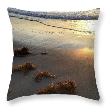 Seaweed Glow Throw Pillow