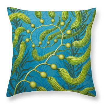 Seaweed Spiral Throw Pillow