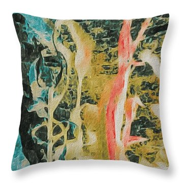 Seaweed Throw Pillow by William Wyckoff