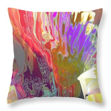 Seaweeds Throw Pillow by Alika Kumar