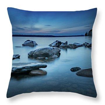 Sebago Blue  Throw Pillow
