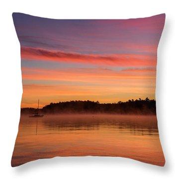 Sebago Sunrise Throw Pillow