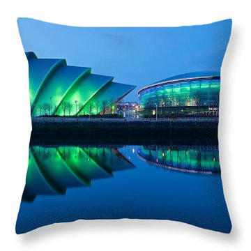 Throw Pillow featuring the photograph Secc And Hydro Reflections by Stephen Taylor