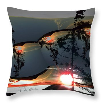 Sechelt Tree 12 Throw Pillow