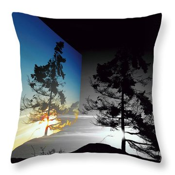 Sechelt Tree Throw Pillow