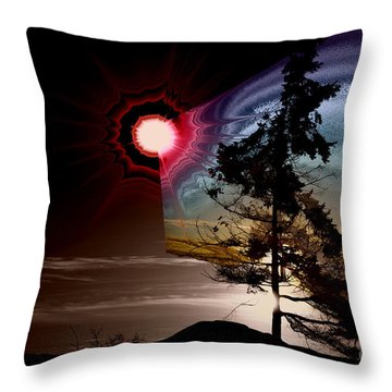 Sechelt Tree Stardust Throw Pillow