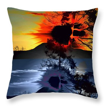 Sechelt Tree Sun And Moon Throw Pillow