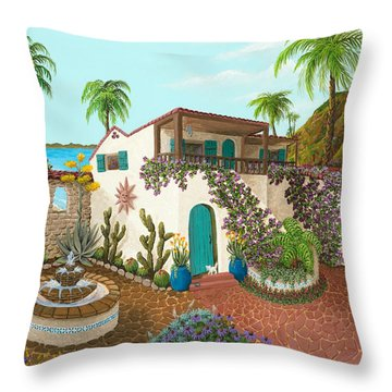 Secluded Paradise Throw Pillow