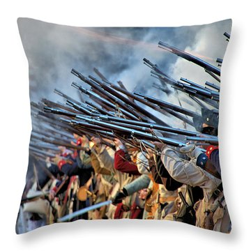 Second Battle Of Trenton Throw Pillow by Steven Richman