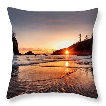 Second Beach 3 Throw Pillow