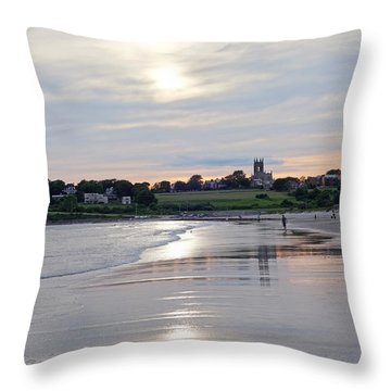 Second Beach Newport Ri Throw Pillow