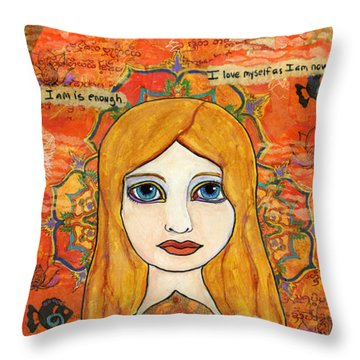 Second Chakra Throw Pillow