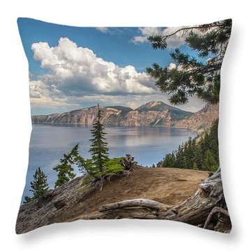 Second Crater View Throw Pillow