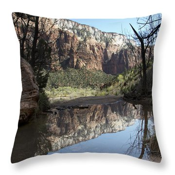 Second Emerald Pool Throw Pillow