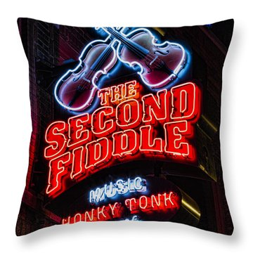Second Fiddle Throw Pillow by Stephen Stookey
