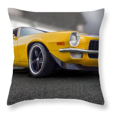 Second Gen Camaro Throw Pillow