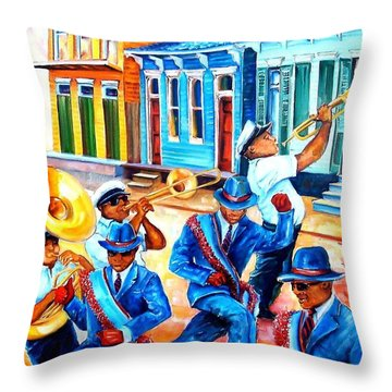 Second Line In Treme Throw Pillow