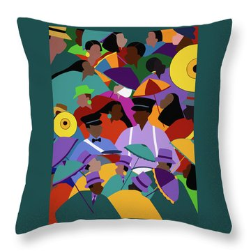 Second Line New Orleans Throw Pillow