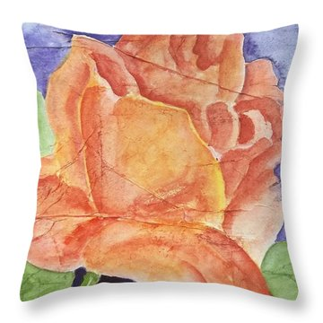 Second Rose Throw Pillow