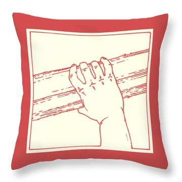 Throw Pillow featuring the drawing Second Station- Jesus Is Made To Carry His Cross by William Hart McNichols