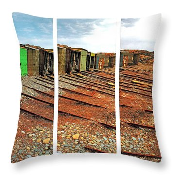 Throw Pillow featuring the photograph Second Valley Boat Sheds by Stephen Mitchell