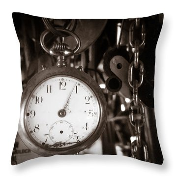 Seconds Past Throw Pillow by Chris Bordeleau
